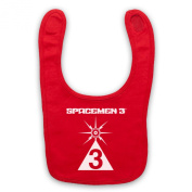 Spacemen 3® Logo Official Licenced Baby Bib, Red