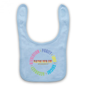 Spacemen 3® Playing With Fire Official Licenced Baby Bib, Sky Blue