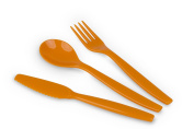 Kinderzeug Polycarbonate Knife Fork and Spoon Set
