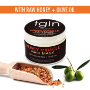 Deep Conditioner for Natural Hair - tgin Honey Miracle Hair Mask with Raw Honey + Olive Oil; Great treatment for any hair texture - Moisturises and Repairs Dry, Damaged, or Colour Treated Hair, 350ml by tgin