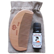 Merry Band Beard Kit | Warm & Spicy Oil | Wooden Comb