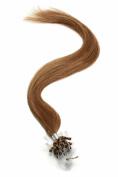 Micro Ring / Micro Loop / Micro Bead Hair Extensions 46cm Hazel Brown (5B) American Pride