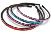 rougecaramel - Hair Accessories - Sequinned Headband - Set of 4 - Mixed Colours