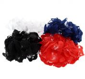Zac's Alter Ego® Set of 4 Frilly Garters/ Scrunchies with Shiny Trim