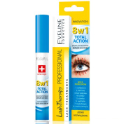 EVELINE Cosmetics Lash Therapy Concentrated Eyelash Serum Treatment 8in1 Long Strong Thick Healthy Lashes 10ml