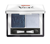 PUPA Milano Vamp! Compact Eyeshadow Duo, Magnetic Blue 2.2 g