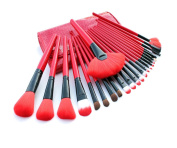 E-Beshiny 24 pcs Pro Cosmetic Makeup Brush Set Powder Tool Kit Set with Case.