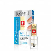 EVELINE Cosmetics Nail Salon Nail Conditioner 9in1 Total Action Proffessional Nail Care 12ml