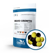 Choice Supplements Beard Growth Formula Capsules, Facial Hair Enhancement Supplement - 100 % Natural UK Made