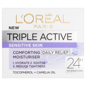 L'Oreal Paris Triple Active Day Moisturiser for Dry and Sensitive Skin 50 ml