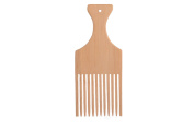 Luqx Strand Comb Bamboo Wooden Comb with Handle