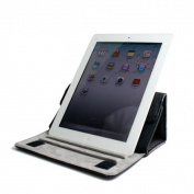 Kroo Leather Tablet Case With Kickstand of iPad 2/3/4 & 23cm Tablets