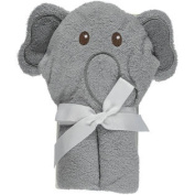 """Luvable Friends """"Elephant"""" Hooded Towel - charcoal grey, one size"""