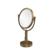 Allied Brass Table Mirror 4X Mag Brushed Bronze