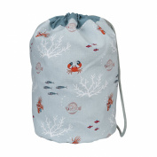 Sophie Allport Drawstring Barrel Bag - What a Catch design