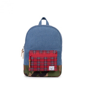 Herschel Settlement Youth Navy Crosshatch/Red Plaid/Woodland Camo Backpack