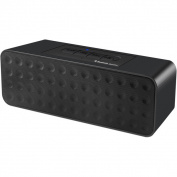 Black Portable Bluetooth Stereo Speaker with Speaker Phone Function