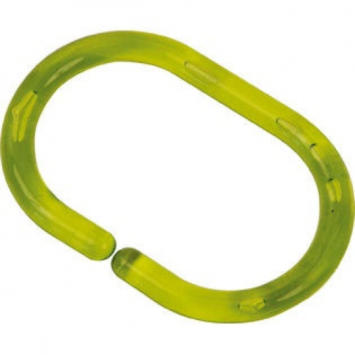 Shower Curtain Rings Set Of 12 Plastic Hooks Clear Green 11street Malaysia Bathroom Accessories