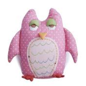 Baby Owls Linen Throw Pillow