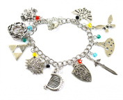 Legend of Zelda Charm Bracelet - Cosplay Accessories - Wind Waker and Triforce Charm