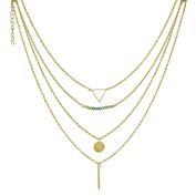 Adoriana Yellow Gold Quadruple Strand Necklace