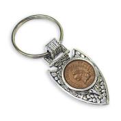 American Coin Treasures Civil War Coin Arrowhead Keyring