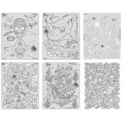 Artool Freehand Airbrush Templates, Piracy Template Set Mini