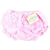 Light Pink Cotton Baby Bloomers with Ruffles