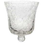 Clear Crackled Glass Votive Holder CupNew by