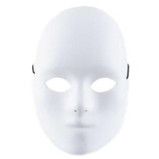 Small White Male Full Face Mask