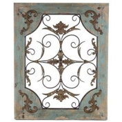 Rustic Turquoise Wood & Metal Wall Decor