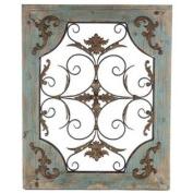 Rustic Turquoise Wood & Metal Wall Decor