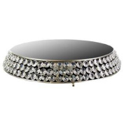 30cm Round Bling Mirror Top Cake Stand From TheCraftyCrocodile