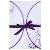 Purple Swirl Vellum Jacket Wedding InvitationsNew by