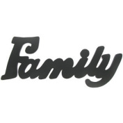 Family Black Wood Wall WordNew by