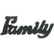 Family Black Wood Wall WordNew by