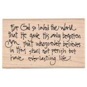 John 3:16 Rubber StampNew by