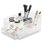 BINO 'The Free Spirit' 8 Compartment Acrylic Makeup and Jewellery Organiser with 2 Removable Drawers