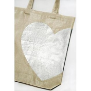 Wedding Library Accessories Tote, White Heart, Cloth Handle