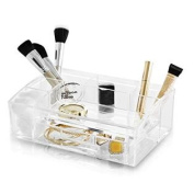 BINO 'The Academic' 7 Compartment Acrylic Makeup and Jewellery Organiser with Removable Drawer