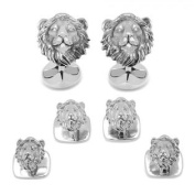 Ox and Bull OBS-LION-SS Sterling Lion Head Stud Set