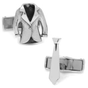 Ox and Bull OBS-STTIE Sterling Suit And Tie Cufflinks