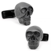 Ravi Ratan RR-150-MB Iron Black Skull Cufflinks