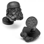Star Wars SW-STH-MB Matte Black 3D Storm Trooper Helmet Cufflinks