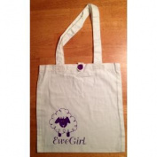 Ewe Girl A Brand White And Purple Tote