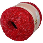TWINKLY GLITZ Trail Metallic Ladder Trellis Yarn 150 yards, Colour 906 Christmas colour