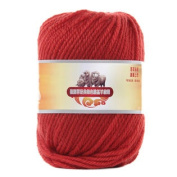Luxury 100% Soft Lambswool Yarn Thick Quick Yarn Premium Soft Yarn, Rust Red
