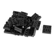 20 Pcs Black Single Metal Axis Plastic Miniature Door Butt Hinges
