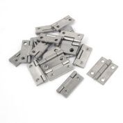 20 Pcs Silver Tone Stainless Steel Foldable Rotating Cabinet Door Hinge 2.5cm Long