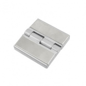 60mm Length Stainless Steel Silver Tone Door Cabinet Hinge